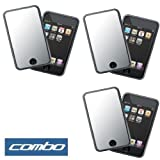 Durable Mirror Reusable LCD Screen Protector - 3 Packs for Apple Ipod Touch Itouch 8GB 16GB 32GB 2G 2nd Generation