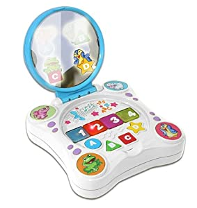 Kidz Delight Magic Mirror Laptop, White/Blue