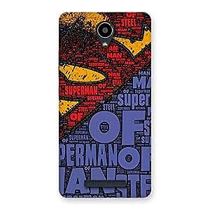 Impressive Superman Typography Multicolor Back Case Cover for Redmi Note 2