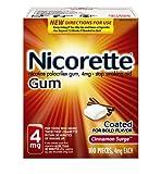 Nicorette Nicotine Polacrilex Gum, Cinnamon Surge, 4mg, 100 Count Box