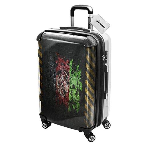 Drapeau Graffiti Afganistan, Luggage Bagage Trolley Valise de Voyage Rigide, 360 degree 4 Roues Valise avec Echangeable Design Coloré. Grandeur: Moyen, M