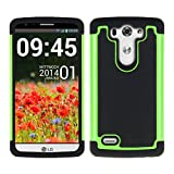 kwmobile Custodia Hybrid per LG G3 S, colore Nero Verde. Custodia interna in TPU contornata da custodia rigida...