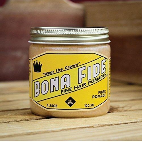 Bona Fide Pomade, Fiber Hold, 4 Oz.