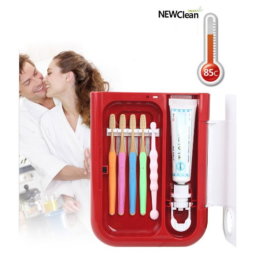 Toothbrush Sanitizer Electric Sterilizer Holder Uv Newclean Cw-500 ~Red
