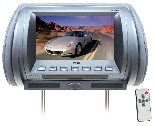 Pyle PL70HRG Adjustable Hideaway Headrest 7-Inch TFT Video Monitor (Grey)