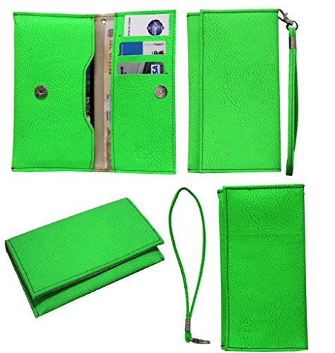 Jo Jo A5 G8 Leather Wallet Universal Pouch Cover Case For Apple iPhone 5S (16GB) Light Green