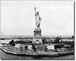 Statue of Liberty Front View, New York City 8x10 Silver Halide Photo Print
