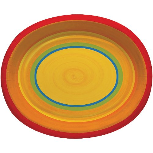 Ablaze Oval Banquet Plates - 1