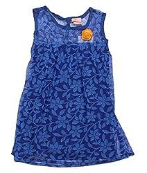 Style Loft Girls' Frock (FROCKS 123_3-4 Years, Blue, 3-4 Years)