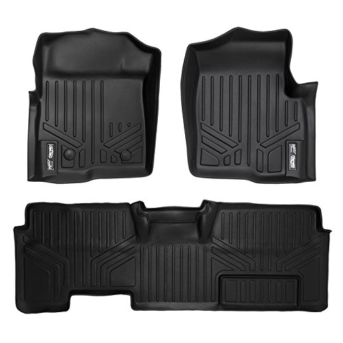 MAXFLOORMAT Floor Mats for Ford F-150 SuperCab Non Flow Center Console (2011-2014) Complete Set (Black) (F 150 Accessories 2013 Console compare prices)