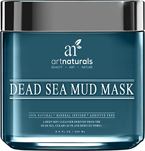 Art Naturals® Dead Sea Mud Mask for Face, Body & Hair 8.8 oz, 100% Natural and Organic Deep Skin Cleanser – Clears Acne, Reduces Pores & Wrinkles – Ultimate Spa Quality -Mineral Infused, Additive Free