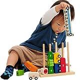 木のおもちゃ 子供 I'mToy アイムトイ ソート&カウントシティ 木製知育玩具 IM-27390 Edute エデュテ