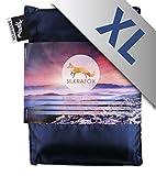 Silkrafox XL - extragroßer, ultraleichter Schlafsack, Hüttenschlafsack, Inlett , Sommerschlafsack, Kunst- Seidenschlafsack, blau