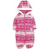 ベビー ジャンプスーツ 女の子 フード付き スノーコンビ スキーウエア 防寒つなぎ ピンク-NB65678 90
