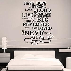 Diy pegatinas de pared frases negras arte de puerta sala - Pegatinas pared frases ...