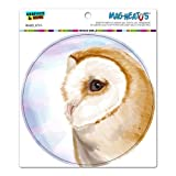 Barn Owl - Bird Wildlife Circle MAG-NEATO'STM Automotive Car Refrigerator Locker Vinyl Magnet