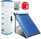 100 Liter Duda Solar Water Heater Active Split System Single Coil Tank Evacuated Vacuum Tubes Hot SRCC Certified