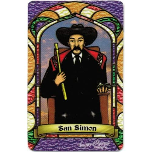 San Simon (Maximon) * St. Simon * Bilingual Prayer Card * Estampa
