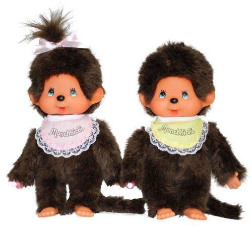 Imagen 2 de Monchhichi 251360 - Edición especial de 35 años, muñeco de chica y chico [importado de Alemania]