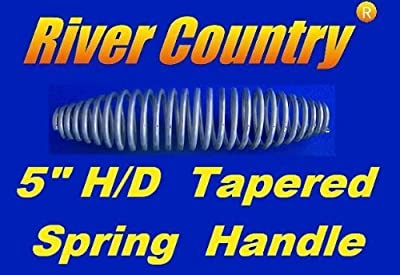 "River Country Heavy Duty 5"" Spring Handle for BBQ Grills, Smokers, Wood Stoves"
