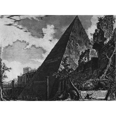 Giovanni Battista Piranesi (Vedute the Pyramid of Cestius) Art Poster Print - 11x17