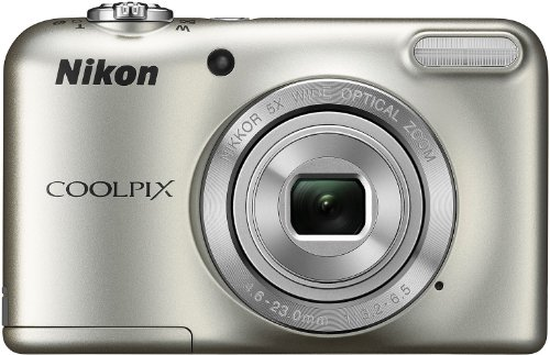 Nikon-Coolpix-L29-161-MP-Point-and-Shoot-Camera-Silver-with-5x-Optical-Zoom-Memory-Card-and-Camera-Case