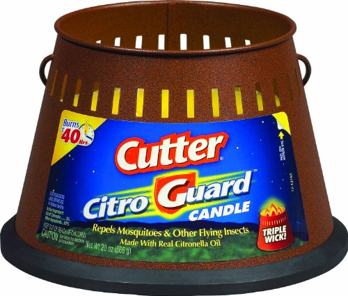 Cutter HG-95784 CitroGuard 20-Ounce Insect Repellent Triple Wick Candle, Case Pack of 1 image