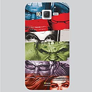 Hamee Marvel Samsung Galaxy J7 Case Cover Marvel Heroes Strips White