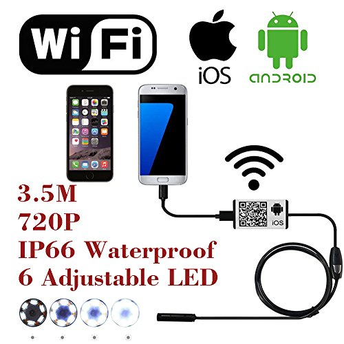 WiFi-Wireless-Digital-Endoscope-Borescope-Snake-Inspection-Camera-System-for-iphone-iOS-ipad-Samsung-Android-Smartphone-Cellphone-with-6-led-light-9mm-2-Megapixels-720P-HD-IP66-Waterproof-35M