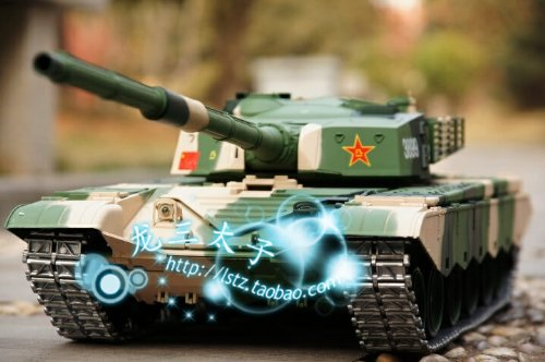 1/16 Chinese ZTZ 99 MBT Air Soft RC Battle Tank Smoke & Sound (Upgrade Version w/ Metal Gear & Tracks)