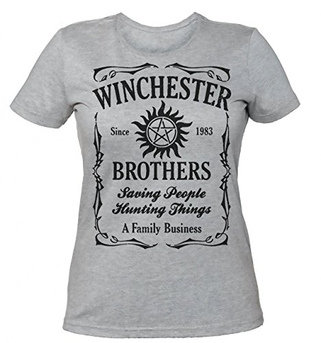 Supernatural Winchester Brothers Family Business Women's T-shirt Medium