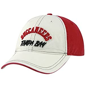 NFL Reebok Tampa Bay Buccaneers Natural-Red Adjustable Slouch Hat