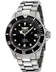 Invicta 9937C Stainless Steel Coin Edge Pro Diver Black Dial Swiss Automatic