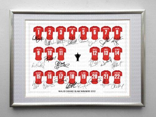 affiche-encadree-wales-grand-slam-winners-2012-squad-rugby-nouvelle-equipe-signe-autographe-12-x-203