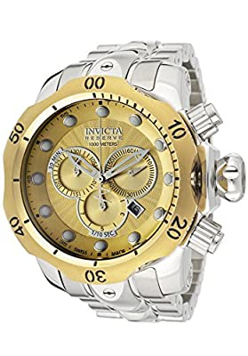 Invicta Reserve Men's Venom Swiss Made Quartz Chronograph Champagne Dial Watch