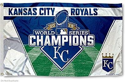 KC Royals 2015 World Series Champs 3x5 Flag