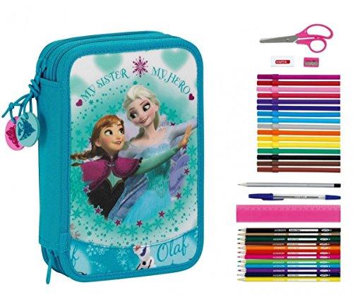 Disney Frozen Die Eiskönigin Federtasche 34 tlg. ICE SKATING Federmappe gefüllt Federmäppchen
