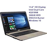 "Asus 2016 New Model 15.6"" Premium High Performance Value Laptop PC, Intel Celeron N3050, 4GB Ram, 500GB HDD, Webcam..."