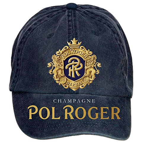 nusajj-champagne-pol-roger-adult-unstructured-100-cotton-caps-design-navy-one-size