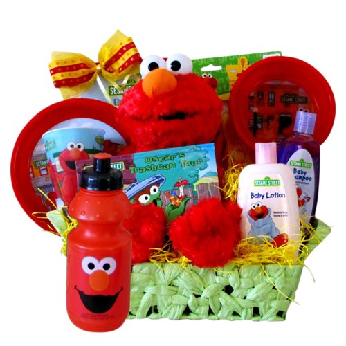 Elmo Presents Perfect Birthday Gift Get Well Basket For