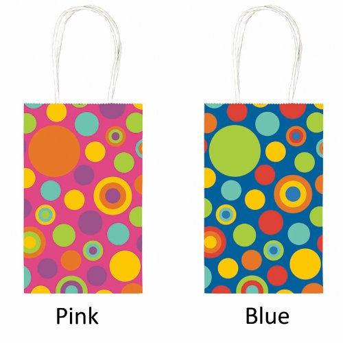 Party Bag - Multi-Sized Dots (Yellow with Circles) Party Accessory