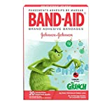Band-aid Brand Adhesive Bandages, Dr. Seuss The Grinch, Assorted Sizes, 20 Count