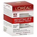 L'Oreal RevitaLift Moisturizer, Anti-Wrinkle + Firming, Face/Neck Contour Cream, 1.7 oz (48 g)