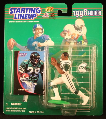 ADRIAN MURRELL / NEW YORK JETS 1998 NFL Starting Lineup Action Figure & Exclusive NFL Collector Trading Card - 1