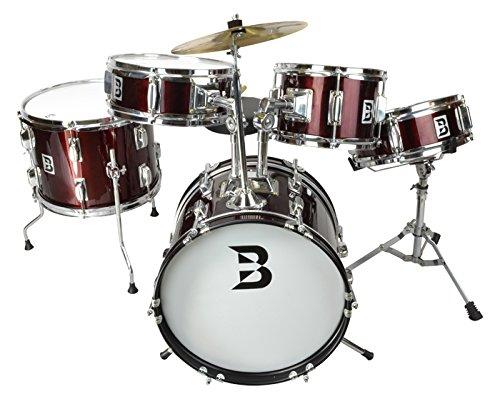 childrens-5-piece-drum-kit-in-red