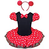 MINNIE MOUSE Polka Dots Girls Fancy Dress Up Costume Childrens Party Xmas Halloween Outfit Tutu Skirt With Ears Headband
