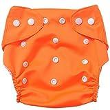 badynoo bdn01ajustable, lavable, impermeable de bebé de algodón Pañales de tela pañales de tela de malla/ Plain Orange2 Talla:mediano
