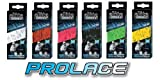 Elite Prolace 108 inch Wax Laces - White/Black