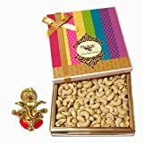 Chocholik Amazing Treat Of Cashews, 400 Gm With Ganesha Idol - Chocholik Dry Fruits