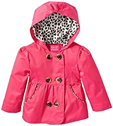 Pink Platinum Baby Girls\' Emma Spring Jacket Double Breasted Trench Coat, Fuchsia, 24 Months